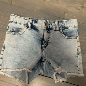 Justice acid wash jean shorts 12 slim
